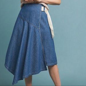 New Anthropologie Pilcro asymmetrical denim skirt